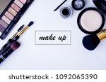 group of make up beauty... | Shutterstock . vector #1092065390