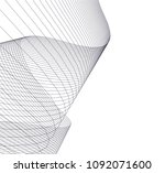 architectural drawing 3d | Shutterstock .eps vector #1092071600