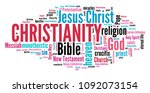 christianity   religion of... | Shutterstock . vector #1092073154