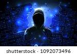 hacker using the internet...   Shutterstock .eps vector #1092073496