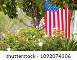 front porches with american... | Shutterstock . vector #1092074306