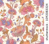 gentle seamless pattern with... | Shutterstock .eps vector #1092083324