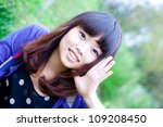 Beautiful girl cry - stock photo