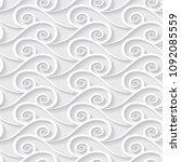 light seamless paper pattern... | Shutterstock .eps vector #1092085559