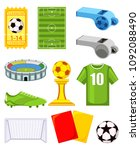 colorful cartoon soccer 11...   Shutterstock .eps vector #1092088490