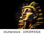 stone pharaoh tutankhamen mask... | Shutterstock . vector #1092093326
