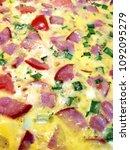 pizza. background pizza | Shutterstock . vector #1092095279