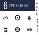 set of 6 adventure icons set.... | Shutterstock .eps vector #1092096119