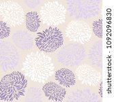 seamless pattern with... | Shutterstock .eps vector #1092096830