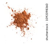 chocolate powder isolated on... | Shutterstock . vector #1092098360