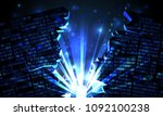 abstract futuristic cyberspace... | Shutterstock .eps vector #1092100238