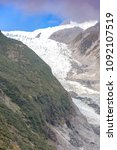 franz josef glacier and valley...   Shutterstock . vector #1092107519