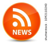 news  rss icon  isolated on...   Shutterstock . vector #1092110240