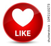 like  heart icon  isolated on...   Shutterstock . vector #1092110273