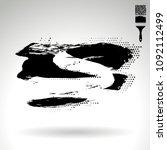 black brush stroke and texture. ...   Shutterstock .eps vector #1092112499