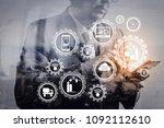 smart factory and industry 4.0... | Shutterstock . vector #1092112610