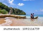 jolly buoy island  andaman ... | Shutterstock . vector #1092116759