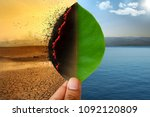 climate change and global... | Shutterstock . vector #1092120809