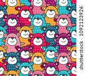 a bright pattern with pretty... | Shutterstock .eps vector #1092123926
