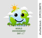 world environment day with... | Shutterstock .eps vector #1092128870