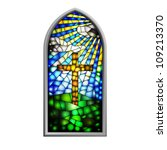 Illustration Of A Stained Glas...