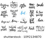hand drawn different quotes set ... | Shutterstock .eps vector #1092134870