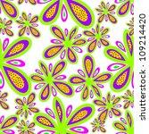 seamless pattern abstract... | Shutterstock . vector #109214420