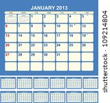 Calendar For 2013 In English