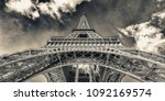 paris. the eiffel tower. | Shutterstock . vector #1092169574