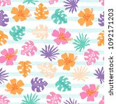 vector seamless pattern with... | Shutterstock .eps vector #1092171203