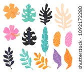 vector collection of  tropical... | Shutterstock .eps vector #1092172280
