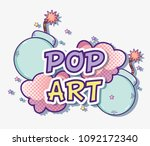 pop art cartoons | Shutterstock .eps vector #1092172340