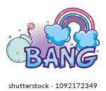 pop art cartoons | Shutterstock .eps vector #1092172349