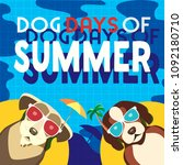 dogs days of summer time for... | Shutterstock .eps vector #1092180710