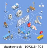 medical equipment isometric... | Shutterstock .eps vector #1092184703