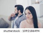portrait of upset couple having ... | Shutterstock . vector #1092186494