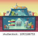vector cross section of nuclear ... | Shutterstock .eps vector #1092188753