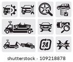 vector black car repair icons...   Shutterstock .eps vector #109218878