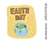 earth day. concept design for... | Shutterstock .eps vector #1092197018