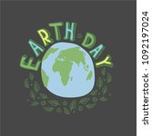 earth day. concept design for... | Shutterstock .eps vector #1092197024