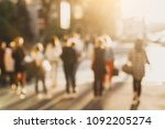 Blurred Street Background With...
