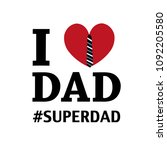 father's day greeting card. i... | Shutterstock .eps vector #1092205580