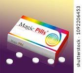 medicine packet named magic... | Shutterstock .eps vector #1092206453