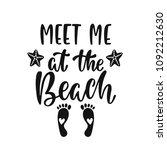 meet me at the beach.... | Shutterstock .eps vector #1092212630