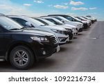 cars for sale stock lot row.... | Shutterstock . vector #1092216734