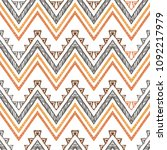 abstract zigzag pattern for... | Shutterstock .eps vector #1092217979