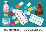 a set of medications   vials ... | Shutterstock .eps vector #1092218690