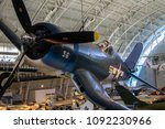 vought f4u corsair hanging in... | Shutterstock . vector #1092230966