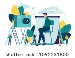 vector flat illustration ... | Shutterstock .eps vector #1092231800