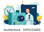 vector flat illustration ... | Shutterstock .eps vector #1092231803